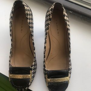 Tahari black & white dress shoes